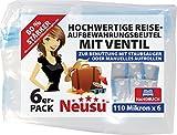 Neusu Starke Vakuumbeutel Mit Ventil, Haus Und Reise, 110 Mikron, Gemischtes x6