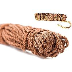 GREEN24 Kokos-Strick 200g Kokosgarn für Baumbindungen Bund Kokosseil zum anbinden von Bäumen und Sträuchern (ca. 200g ca. 14 m)