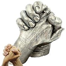 Molde de yeso de manos de adultos de BabyRice; para bodas, aniversarios, San