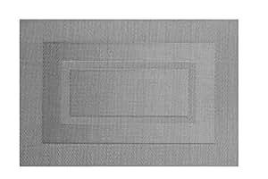 Set de table en plastique tissé argenté 'Rectangle' (30x45cm)