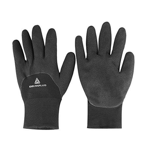 Tiptiper Winter Warmhalte Arbeitshandschuhe, Ergonomische Handfläche Micro-Foam Latex Doppelt beschichtet, verkauft von Paar (Arbeitshandschuhe Latex Beschichtet)
