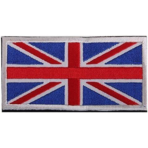 Union Jack Bandera De Inglaterra Uk Gancho Bordado Táctico Placa De Sujeción De Bucle