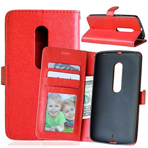 Nancen Compatible with Handyhülle Motorola Moto X Play Lederhülle Style Acht Farbe Weich PU Flip Case Ledertasche/Schutz Etui, Karten Slot Foto Wallet Hülle