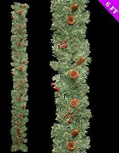 6ft splendida pineta decorata e Berry ghirlanda di Natale decorazione (DP105)