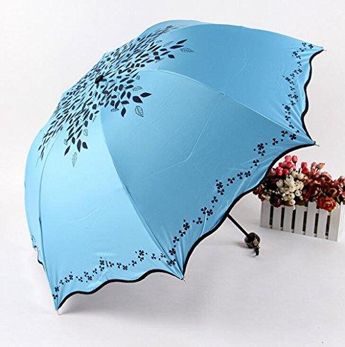 GTWP GT Regenschirm Manual Mode 3 Folding Umbrella kreative Stockschirm Robuste winddicht Anti-UV-Sonnenschutz Dach