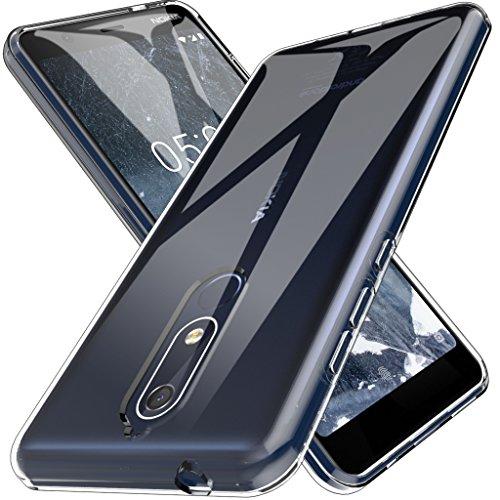 L K Custodia per Nokia 5.1, Case in Morbido Silicone di Gel AntiGraffio in TPU Ultra [Slim Thin] Cover Protettiva - Trasparente