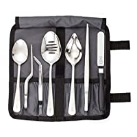 Mercer Culinary Professional Chef Plating Kit, 8 Piece, Black, Stainless Steel