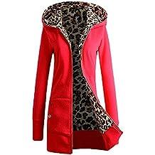 Chaqueta de invierno con capucha de leopardo de las mujeres