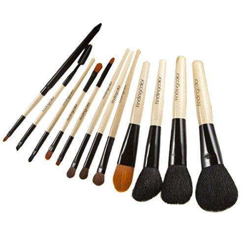 Susenstone 12 PCs Cosmétiques Maquillage Pinceau Pinceaux Set Brosse de Fard à Paupières Poudre Fondation