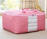 #9: Okayji Fabric Storage Organizer Bag, Pink