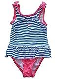 kimbaloo Badeanzug Hat Schleierstoff Schleierstoff 1Piece Bebe Mädchen Marin, blau gestreift weiß/rosa weiß Tupfen A, 0143
