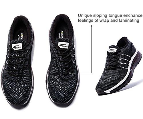 Onemix Homme Air Baskets Course Gym Fitness Sport Chaussures Noir blanc
