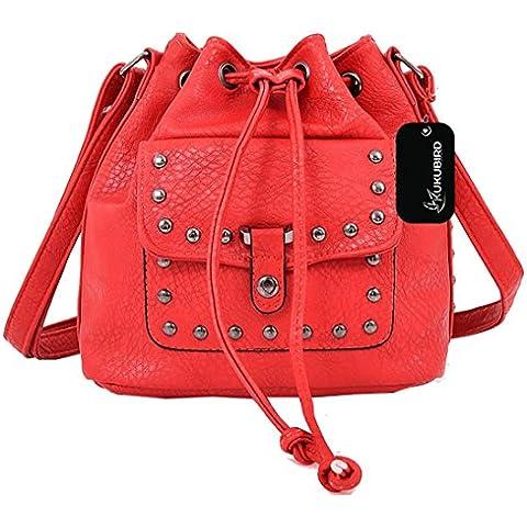 Kukubird Bonnie secchio borsa borsa Casual tutti i giorni con sacchetto raccoglipolvere Kukubird
