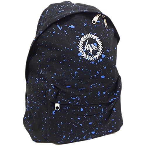 Hype Uomo Zaino Logo Speckle, Blu Speckled Black/Blue