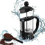 Berrose -Brasilien Französisch Presse Kaffeemaschine, 12 Unzen, 0,35 l (3 Tasse), schwarz Hohe Temperaturbeständigkeit Hohes Borosilikat Kaffeefiltertopf Französisch Kaffeekanne
