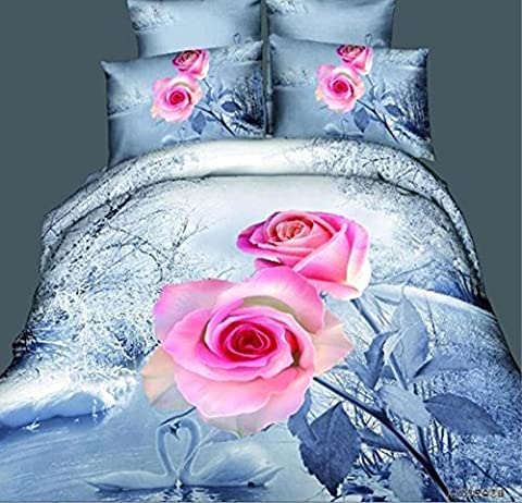 SQL 3d roses cotton bedding quinets quilt queen , Queen