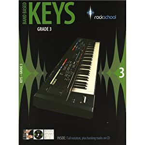 Rockschool: Band Based Keys - Grade 3. Partitions, CD pour Clavier