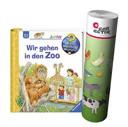 Ravensburger Junior Kinder-Buch Band 30   Wir gehen in den Zoo + Bauernhof Tiere Poster by Collectix