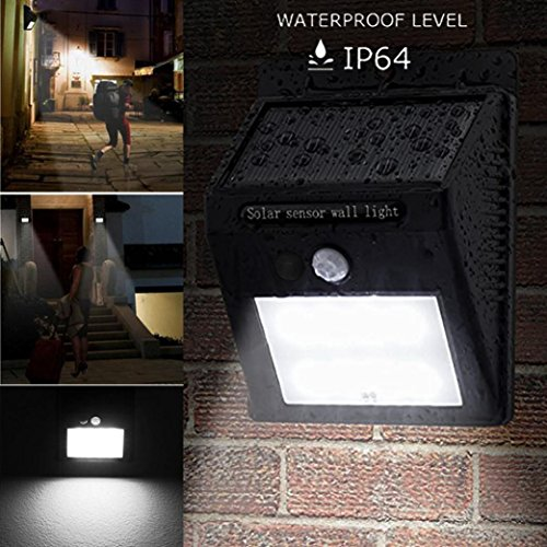 TWIFER 20 LED Sonnenenergie PIR Bewegungssensor Wandleuchte Outdoor Garten Wasserdichte Lampe