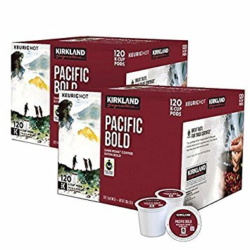 Kirkland Pacific Bold k-cups, 100 Count (240 K-cups) - Pacific Pod