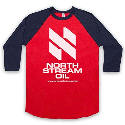 The Guns Of Brixton Tin Star North Stream Oil 3/4 Manches Retro T-Shirt de Base-Ball