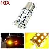 #4: HITSAN 10pcs 21W 5050 27SMD LED Car Turn Signal Light Tail Lamp Reverse Bulb Yellow 12V One Piece