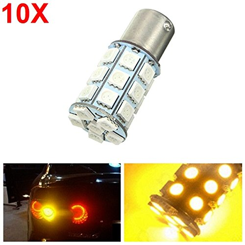 10pcs-21-w-5050-27smd-led-auto-turn-signal-light-tail-lamp-reverse-bulb-yellow-12-v