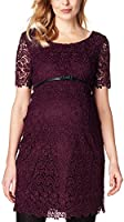 ESPRIT Maternity Damen Umstandskleid Dress Wvn Ss, Rot (Burgundy Night 651), 40