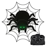MECO Spider Scary Toy Wall Climbing Remote Control RC Spider for Halloween, April-Fool's Day and Birthday Gift