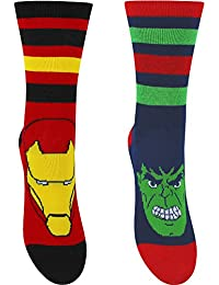 Boy's Marvel Avengers Characters Socks (2 Pair Pack)