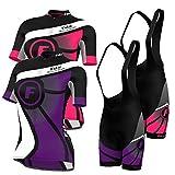 FDX Ladies Cycling Jersey Half Sleeve Bike Team Racing Top + Bib shorts set