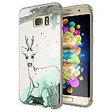 NALIA Handyhülle für Samsung Galaxy S7 Edge, Slim Silikon Motiv Case Hülle Cover Crystal Schutzhülle Dünn Durchsichtig, Etui Handy-Tasche Backcover Transparent Bumper, Designs:Deer