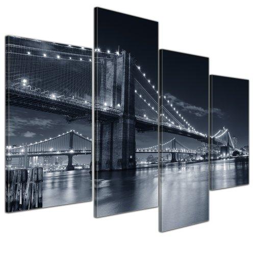 Brooklyn Bridge Lichter (Kunstdruck mit Winter SALE