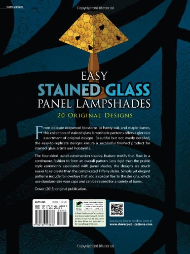 Easy Stained Glass Panel Lampshades (Dover Stained Glass Instruction)