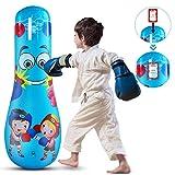 SANON Kinderen Opblaasbare Bokszak Vrijstaande Boksen Zandzak Opblaasbare Fitness Bokszak Voor Jeugd en Kinderen Oefening Stressbestrijding Fitness Entertainment