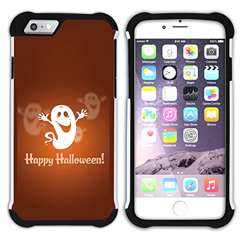 Graphic4You Halloween Allerheiligen Thema Katze Design Hart + Weiche Kratzfeste Hülle Case Schale Tasche Schutzhülle für Apple iPhone 6 Plus / 6S Plus Design #7