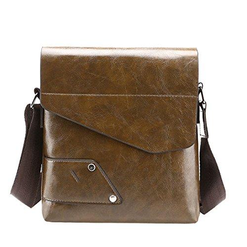 Yy.f Neue Mannbeutel Herrenschultertasche Diagonal Paket Xia Jiqing Neues Paket Mehrzweck- Tasche Koffer Mit Einstellbarer Schultergurt Tasche Farbe 3 Brown