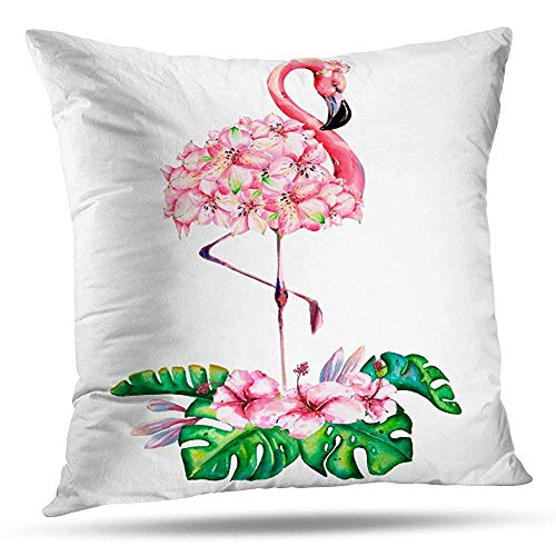 Zadanly Decorativepillows Case Throw Pillows Covers for Couch/Bed 20 x 20 inch,Banana Beautiful Bird Bloom Blossom Blue Botanical Home Sofa Cushion Cover Pillowcase Gift Bed Car Living Home -