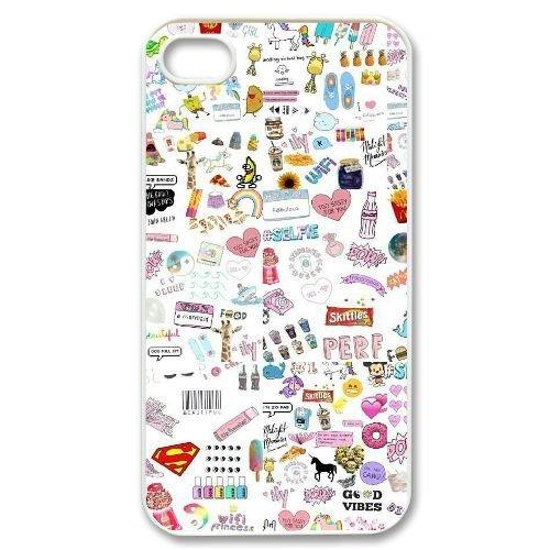 Custom New Cover Case for Iphone 4,4S, Lovely Emoji Phone Case - HL-2999871