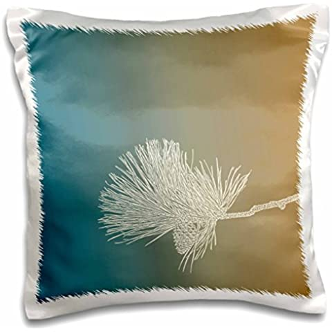 PS Creations - Simple White Pinecone nature art - 16x16 inch Pillow Case