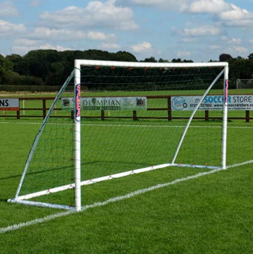 Samba Fußballtor 3,65 x 1,8 m · Wetterfestes Fussballtor für Kinder · neuartiges Einrastsystem (Safe Locking Model) · 1 Fussballtor Garten (3,6 x 1,8m Fußballtor)