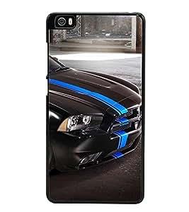 Fuson Premium 2D Back Case Cover Stylish Black car With blue Background Degined For Xiaomi Redmi Mi5::Xiaomi Mi 5
