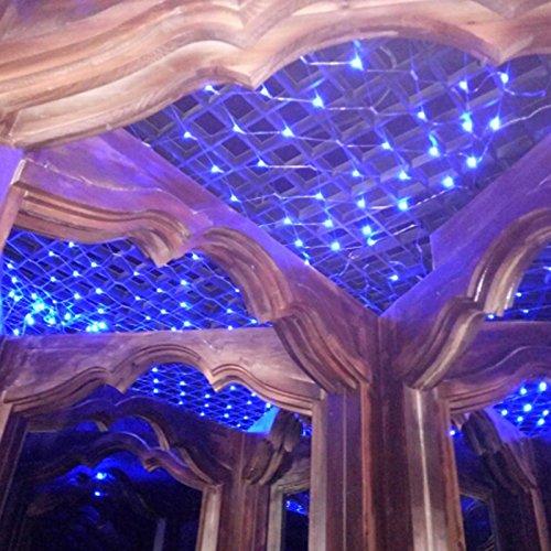 VINGO 2 * 2M LED Lichternetz Lichterkette mit 204 LEDs Weihnachten mit Steuerbox Netz-ineinander greifen