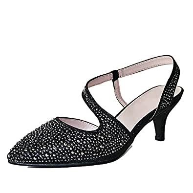 Rock On Styles Kitten Heel Shoes Amazon