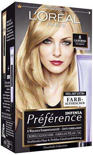 L\'Oréal Paris Préférence Coloration Naturblond 8, 3er Pack (3 x 1 Colorationsset)