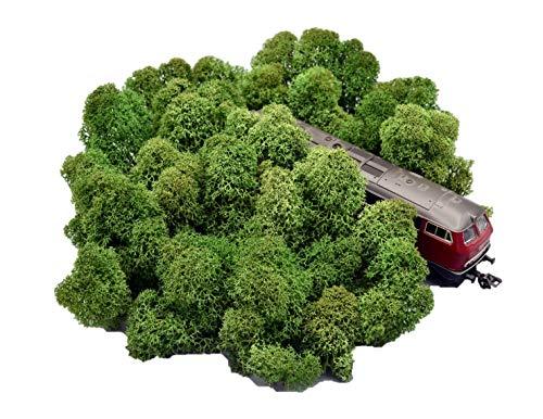 Muwse Island-moos-köpfe 3-8cm H0 50g Tannen-Grün Hand-gereinigt fein verästelt. Modellbau-moos Diorama-zubehör Modelleisenbahn-büsche Bastel-moos