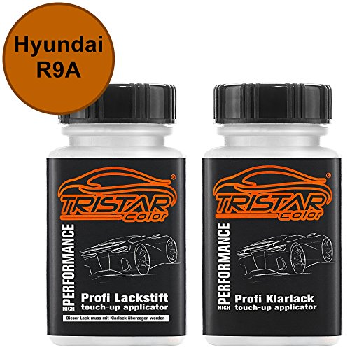 Preisvergleich Produktbild Autolack Lackstift Set Hyundai R9A Vitamin C Metallic Basislack Klarlack je 50ml