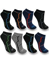 BestSale247 12 Paar Herren Sport Freizeit Sneaker Socken Füßlinge Baumwolle 39-42 ; 43-46