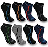 BestSale247, 12paia di calzini fantasmini da uomo, per sport e tempo libero, in cotone, misura 39-42, 43-46, Fantasia 1, 39-42