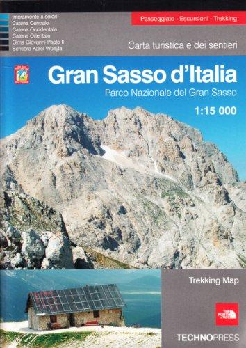 Gran Sasso d'Italia. Parco nazionale del Gran Sasso 1:15.000. Carta turistica dei sentieri por AA.VV.